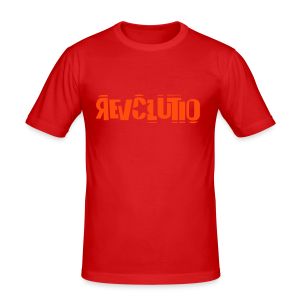 REVOLUTIO (Orange) - Männer Slim Fit T-Shirt