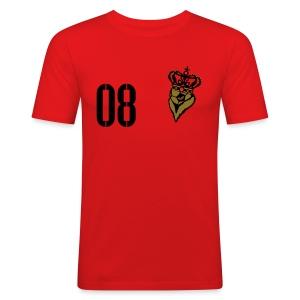 FUßBALLKAISER 08 (Gold-Schwarz) - Männer Slim Fit T-Shirt