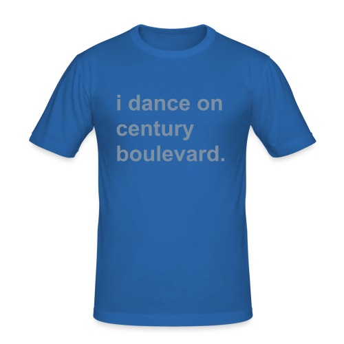i dance on century boulevard. men blue - Männer Slim Fit T-Shirt