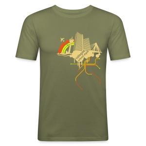 Cologne urban style - Männer Slim Fit T-Shirt