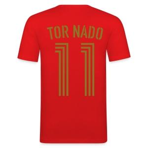 TOR NADO 11 (Home - Gold) - Männer Slim Fit T-Shirt