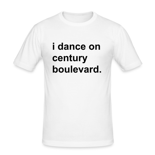 i dance on century boulevard. men white - Männer Slim Fit T-Shirt