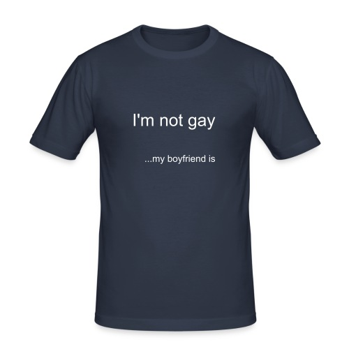 I'm not gay... - Men's Slim Fit T-Shirt