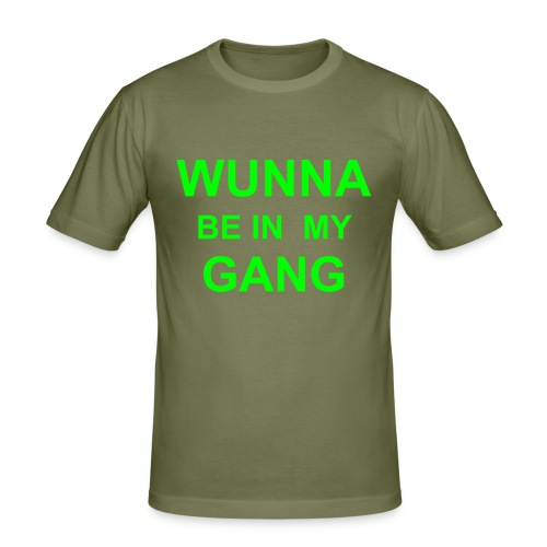 WUNNA BE IN MY GANG shirt - Men's Slim Fit T-Shirt