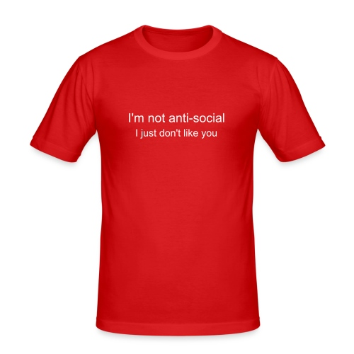 anti-social - Men's Slim Fit T-Shirt