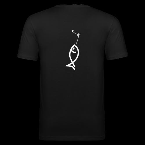 Poisson d'Avril Slim Noir - T-shirt près du corps Homme