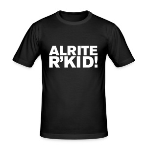 R'kid manchester saying - Men's Slim Fit T-Shirt