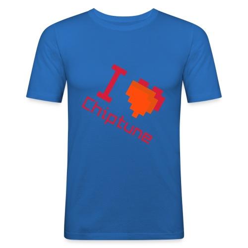 I love chiptune (rotated men's) - Men's Slim Fit T-Shirt