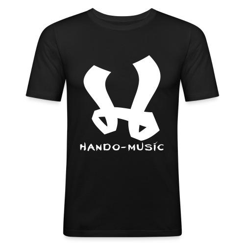 """T-Shirt """"Hando-Music"""" (schwarz/weiß) - Männer Slim Fit T-Shirt"""