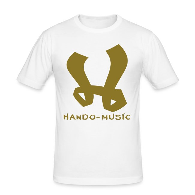 "T-Shirt ""Hando-Music"" (weiß/gold)"