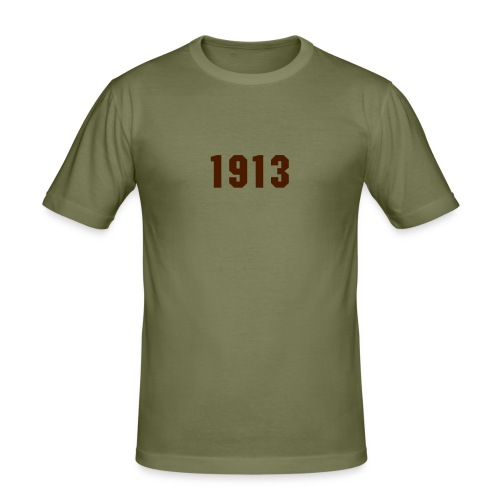 1913 - Slim Fit T-skjorte for menn