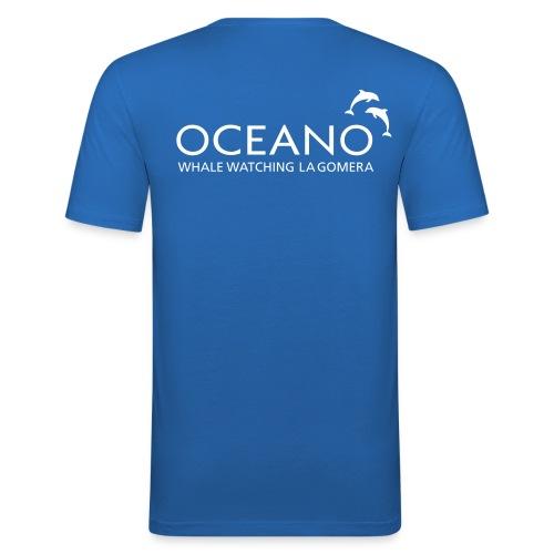 OCEANO Männer Slim Fit T-Shirt Motiv gewöhnlicher Delfin - Männer Slim Fit T-Shirt