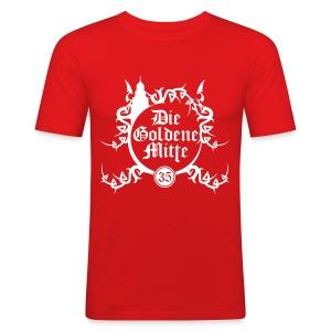"""T-Shirt """"DGM"""" (rot/weiß) - Männer Slim Fit T-Shirt"""