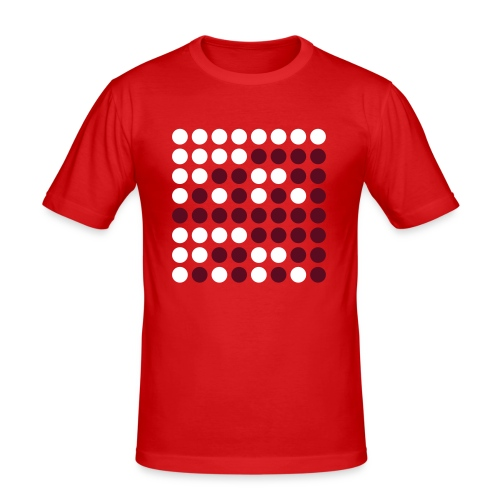 Binaerzahlenquadrat, weinrot - Männer Slim Fit T-Shirt