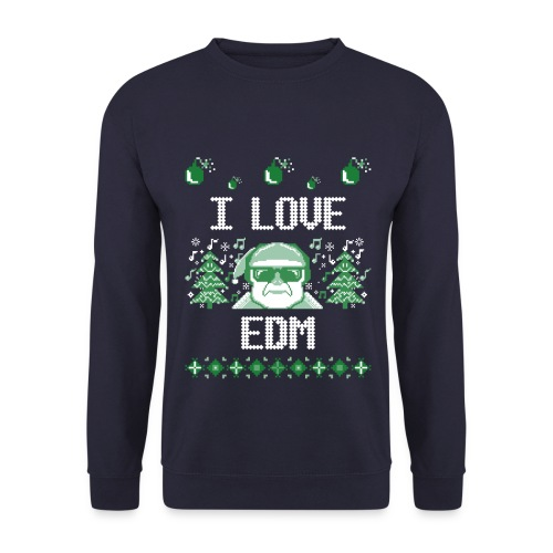 Ugly Christmas Sweater I LOVE EDM - MEN - Männer Pullover