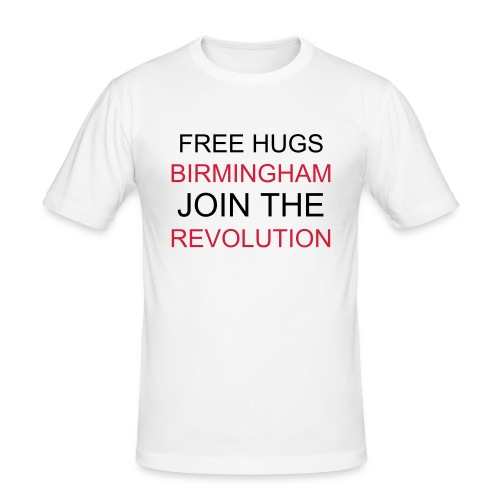 Mens Hug Revolution White T-Shirt - Men's Slim Fit T-Shirt