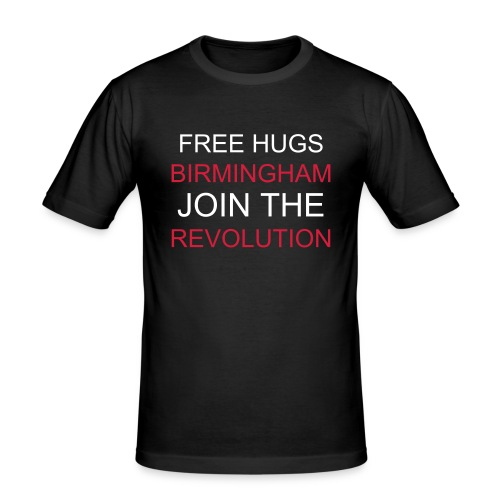 Mens Hug Revolution Black T-Shirt - Men's Slim Fit T-Shirt