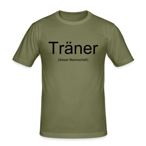 Träner Shirt - Männer Slim Fit T-Shirt