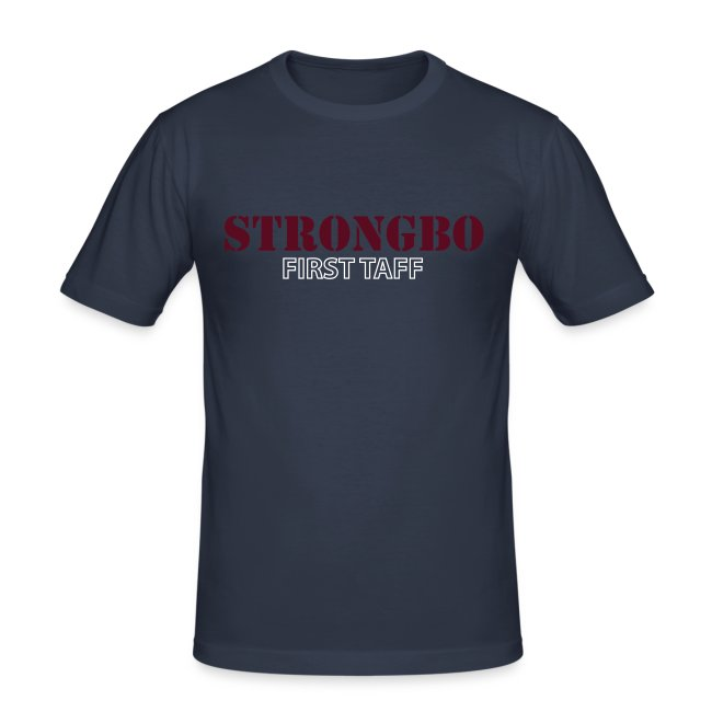 Strongbo Navy Men's Slim Fit T-shirt