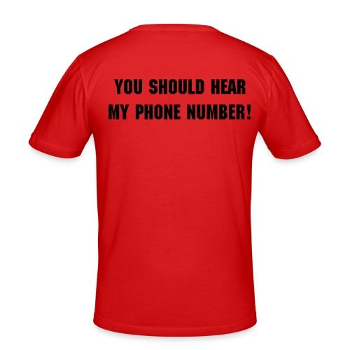 Phonenumber - Men's Slim Fit T-Shirt