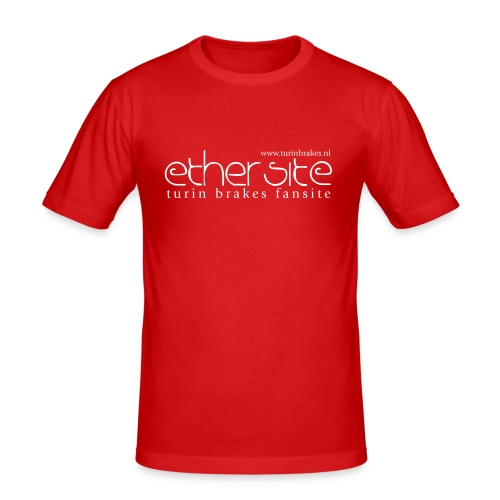 Ether 72 (back) Red Shirt - Men's Slim Fit T-Shirt