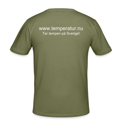 Temperatur.nu Slim-Fit Tshirt Brun - Slim Fit T-shirt herr
