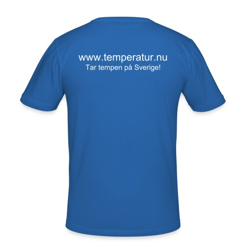 Temperatur.nu Slim-Fit Tshirt Blå - Slim Fit T-shirt herr