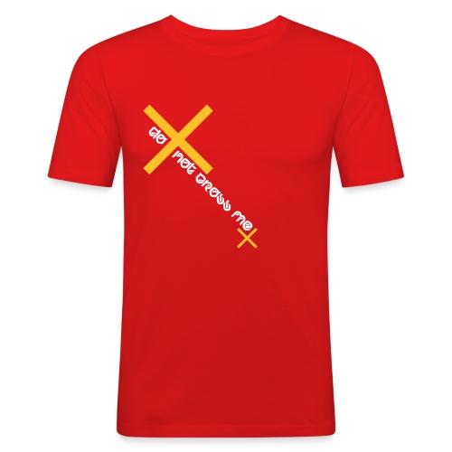 do not cross me (m) - Männer Slim Fit T-Shirt