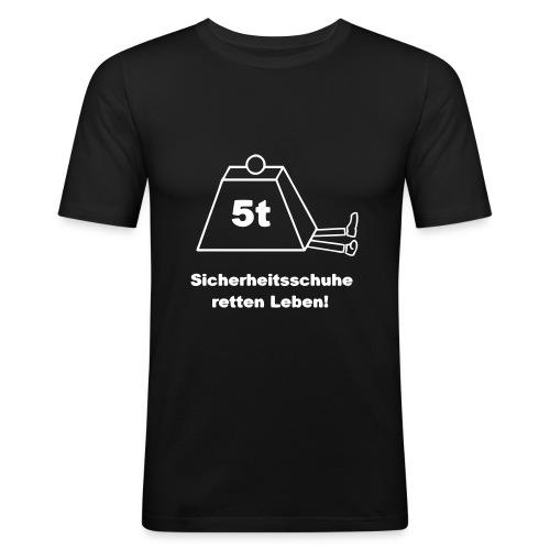 Sicherheitsschuhe retten Leben! - Männer Slim Fit T-Shirt