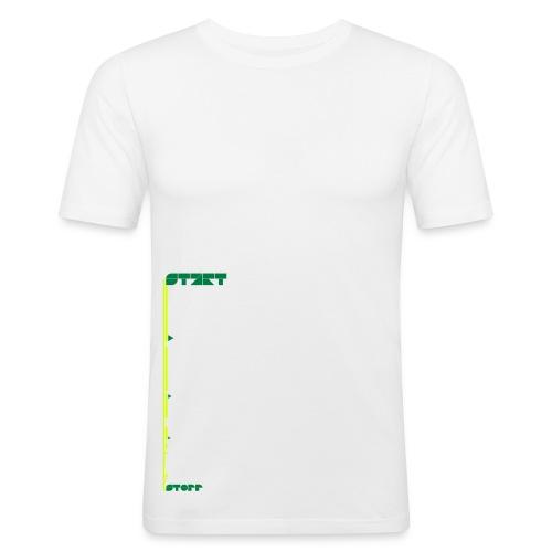 start_stop (m) - Männer Slim Fit T-Shirt