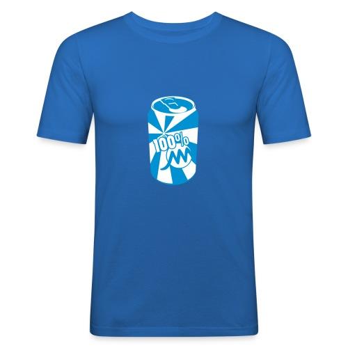 Près du corps H bleu Canette - T-shirt près du corps Homme