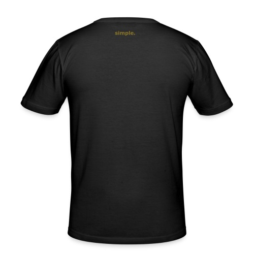 simple. plain black tee. gold lettering - Men's Slim Fit T-Shirt