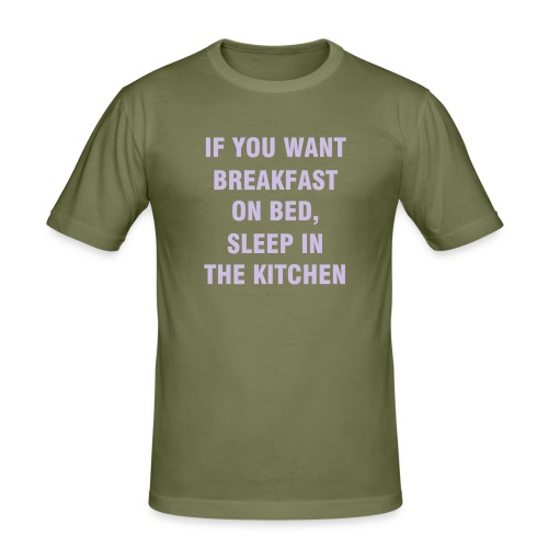 BREAKFAST ON BED - slim fit T-shirt