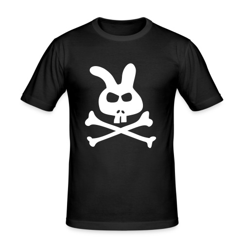 Fit T Rabbit Skull - Männer Slim Fit T-Shirt