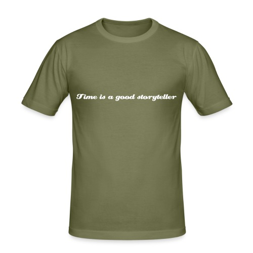 Time is a good storyteller - Men's Slim Fit T-Shirt