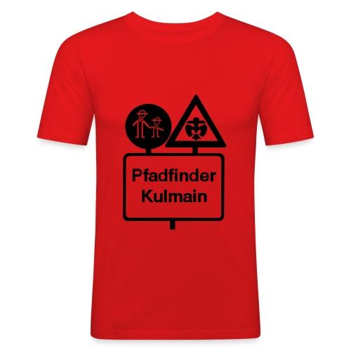SLIM-FIT Männer Shirt Stammeslogo vorne - Männer Slim Fit T-Shirt