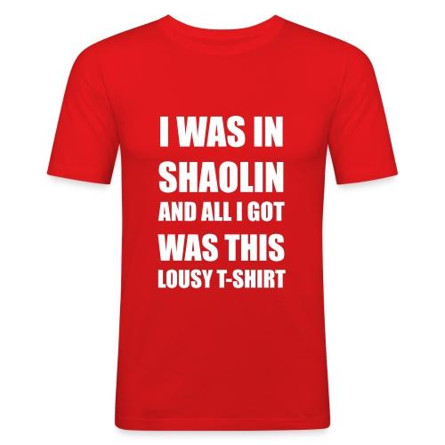 I was in Shaolin - Männer Slim Fit T-Shirt