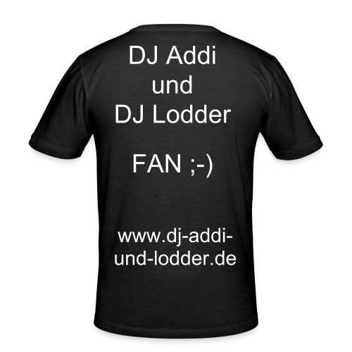 Fan Shirt DJ Addi & DJ Lodder - Männer Slim Fit T-Shirt