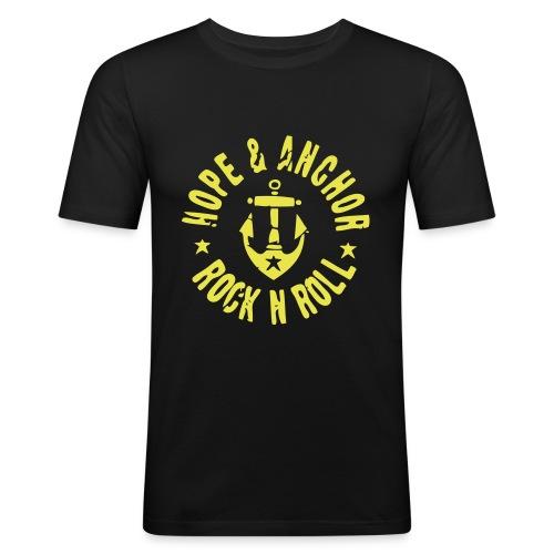 Hope & Anchor - Classic!! Schwarz/Gelb - Männer Slim Fit T-Shirt