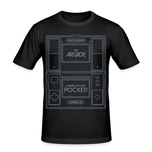 Multiscreen (silver) - Men's Slim Fit T-Shirt