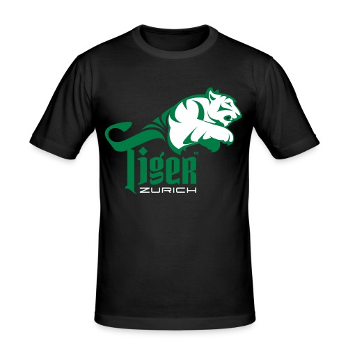 CC | TIGER GREEN & WHITE FLEX - Männer Slim Fit T-Shirt