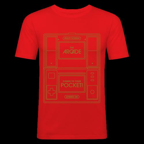 Multiscreen (gold) - Men's Slim Fit T-Shirt