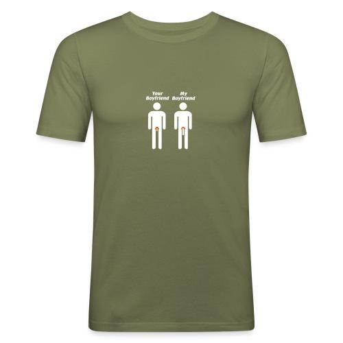 Your boyfriend - my boyfriend - Männer Slim Fit T-Shirt