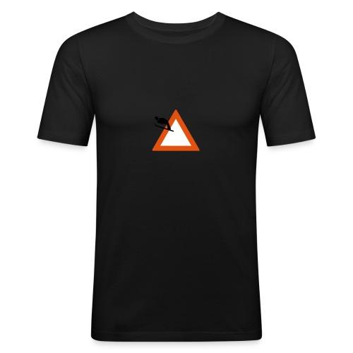Skispringen - gelb - slim - Männer Slim Fit T-Shirt