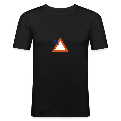Skispringen - schwartz slim - Männer Slim Fit T-Shirt