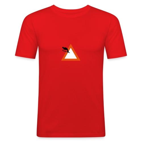 Skispringen - rot - slim - Männer Slim Fit T-Shirt