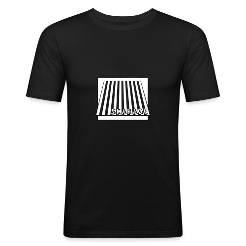 SLIM Fit Männer, mit weißem Logo - Männer Slim Fit T-Shirt