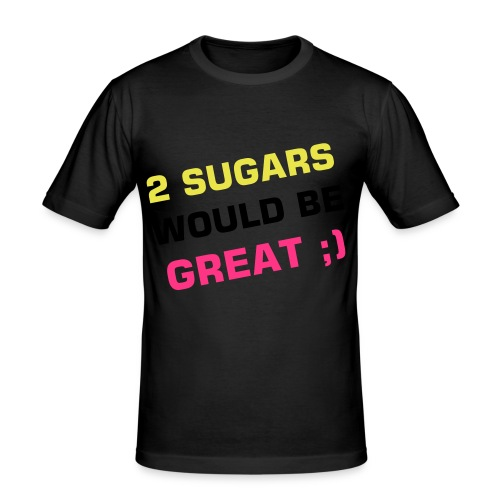 2 sugars - Men's Slim Fit T-Shirt