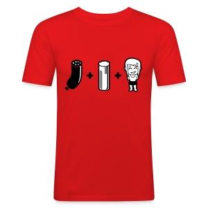 Blodwoosch, Kölsch und en lecker Mädche - Männer Slim Fit T-Shirt