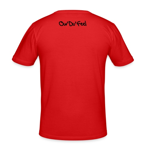 Who Are Ya Red T-shirt - Men's Slim Fit T-Shirt